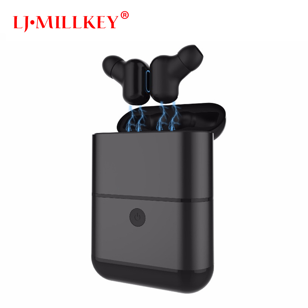 TWS Bluetooth Earphone with Mic True Wireless Earbuds Fone Bluetooth V4.2 Truing Headsets for Smart Phone LJ-MILLKEY YZ130 цена 2017