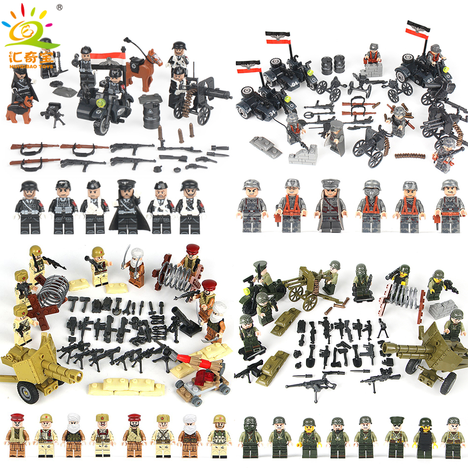 Military Swat Team City Police Armed Assault Army soldiers With Weapons Guns Compatible Legoed Figures WW2 Building Blocks Toys c010 original blocks educational toys swat police military weapons gun model city accessories mini figures
