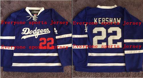 22 Clayton Kersahw Los Angeles Dodgers LA King Blue Limited Mens Hockey  Jersey or Custom any player for any name jerseys 9ceb17eb5