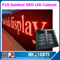 TEEHO 0.96x0.96m p10 red outdoor led display cabinet 100% waterproof moving message text LED sign display board