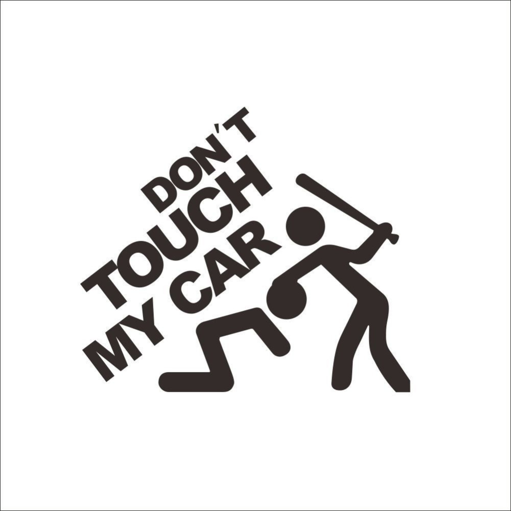 Car sticker vinyl - Aliexpress Com Buy 50pcs Lot Don T Touch My Car Vinyl Decal Graphic Stickers Funny Voiture Autocollant Sticker Vinyl Car Autocollant For Renault From