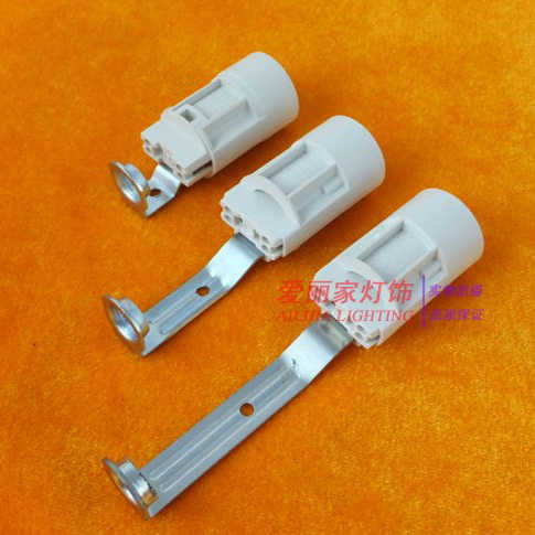 8PCS E14 Plastic chandelier lamp holder, lamp accessories Candle lamp base socket 110v 220v