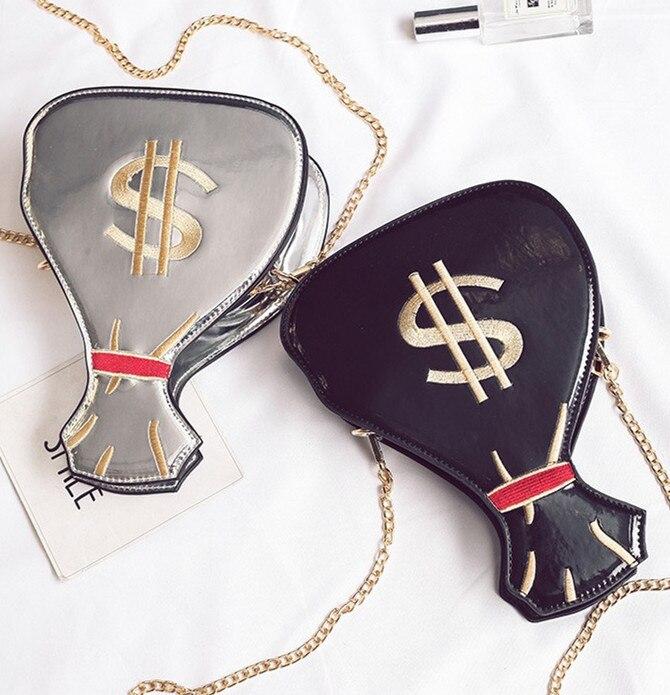 Messaggero gold Borsa Del Monete Sacchetto Lasier Della hot Cinque Nuova Femminile Modo Pink Spalla Divertente Catena Di Silver gold Desgin 354 Dollor Colori 48q4Hn7XPw