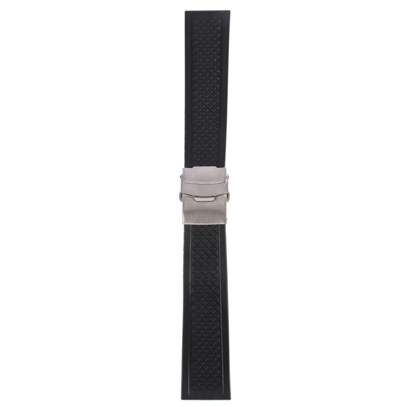 Watchband For Wristwatch Silicone Rubber Watch Strap Band Deployment Buckle Waterproof band