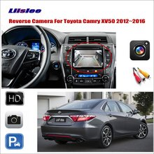 Liislee For Toyota Camry XV50 2012~2016 Car Reverse Rear View Camera / Connect Original Factory Screen / RCA Adapter liislee for honda hrv hr v 2013 2016 car reverse rear view camera connect the original factory screen rca adapter