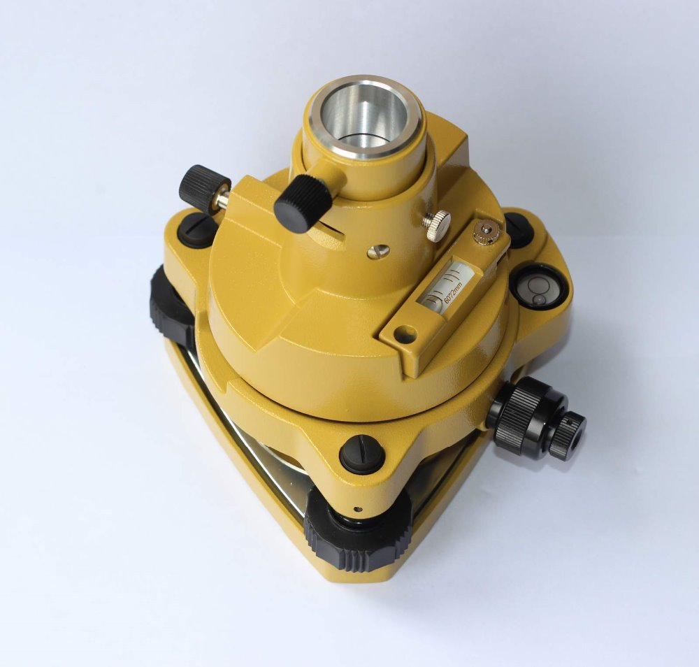 NEW YELLOW TRIBRACH WITH OPTICAL & ADAPTER, FOR TOTAL STATIONS single prism with soft bag for leica type total stations