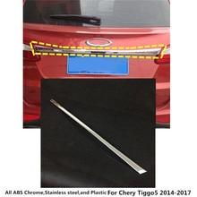 Per Chery Tiggo5 Tiggo 5 2014 2015 2016 2017 copertura auto In acciaio inox back door posteriore inferiore portellone piastra telaio trim lampada 1 pcs