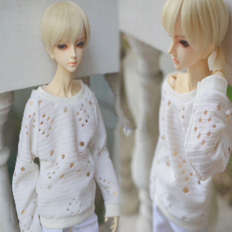 1/3 1/4 BJD Doll clothes a144 cutout white knitted raglan sleeve batwing shirt uncle 1 3 1 4 1 6 doll accessories for bjd sd bjd eyelashes for doll 1 pair tx 03