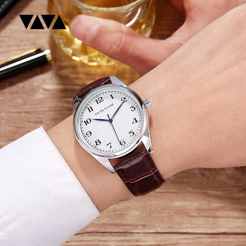 腕時計男性トップブランドの高級メンズクォーツ腕時計レザーカジュアルビジネス腕時計メンズ防水時計男性リロイ hombre xfcs