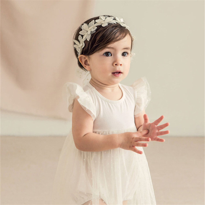 Newborn Flowers Floral Butterfly Bow Elastic Hair Band For Girls Turban Knot Headbands Children Headwear Baby Hair Accessories