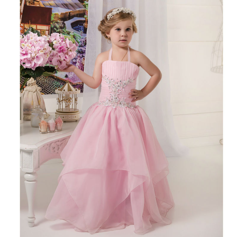 Ball Gown Flower Girls Dresses For Wedding Gown Lace Girl Birthday Party Dress Tulle Dresses for 12 Year Olds for  Wedding