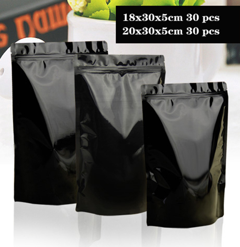 HARD IRON 3 Colors Standing Aluminum Foil Food Packaing Pouch Zipper Thick Loading Tea Coffee Bean Spices Powder Storage Bags