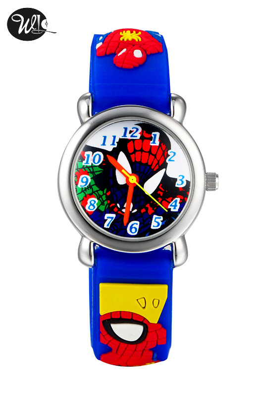 Children's Gift Watch Quartz 3D Strap Cartoon Spiderman Watch Pointer Fashion Electronic Waterproof Watch Children's Watch
