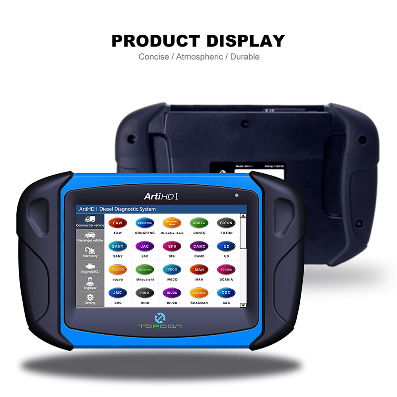 Topdon ArtiHD I Automotive Diagnostic Scan Tool for Heavy Duty and Commercial Vehicles with ECU Reprogram/Calibration Lahore