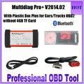 2017 de Qualidade Da Marca V2014.02 Multidiag Pro + Scanner Auto Bluetooth Plus para Carros/Caminhões OBD2 Multidiag Pro sem 4 GB Cartão TF