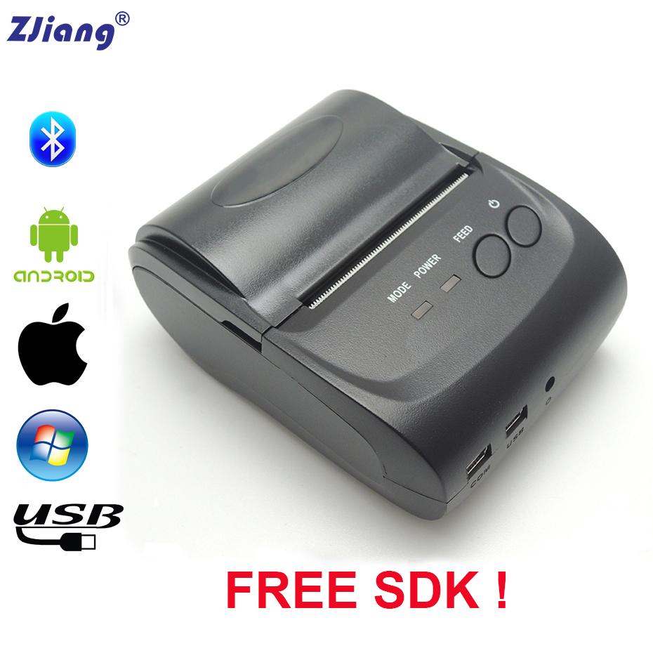 Free SDK Mini Bluetooth Thermal Printer Portable 58mm Pos Receipt Printer For Android Or iOS Pos Printer ZJ-5802DD nt 5802dd portable bluetooth thermal printer mini 58mm bluetooth android and ios pos printer mobile usb receipt printer netum page 3