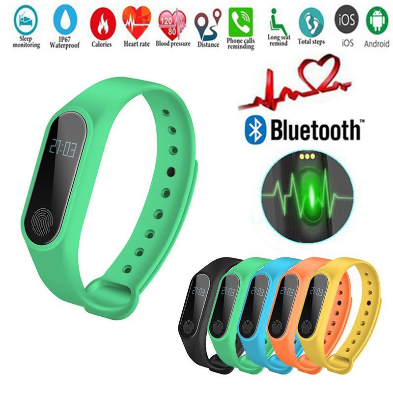 M2 Smart Wristband Waterproof Band Bluetooth Smart Bracelet Heart Rate Monitor Sleep Fitness Tracker Pedometer Wristbands цена 2017