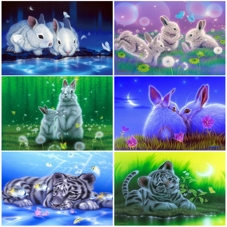 Juegos de trabajo hecho a mano de animales Diy Patrón de Diamante - Artes, artesanía y costura