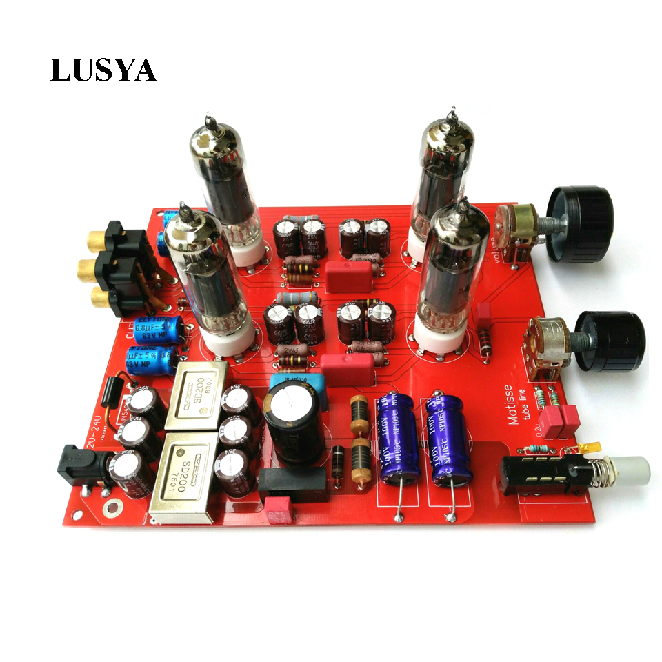 Lusya 6K4 Preamp Tube Amplifier Preamp Bile Buffer MINI HIFI Tone Board Preamplifier DC12V-24V brave fighter 58 60hrc d2 blade g10 handle fox fixed knife outdoor camping knife survival tool tactical utility edc knife