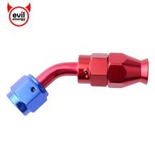 evil energy AN4 Swivel PTFE Hose End 45degree Reusable PTFE Fuel Adapter For PTFE Fuel Line Hose End Fitting