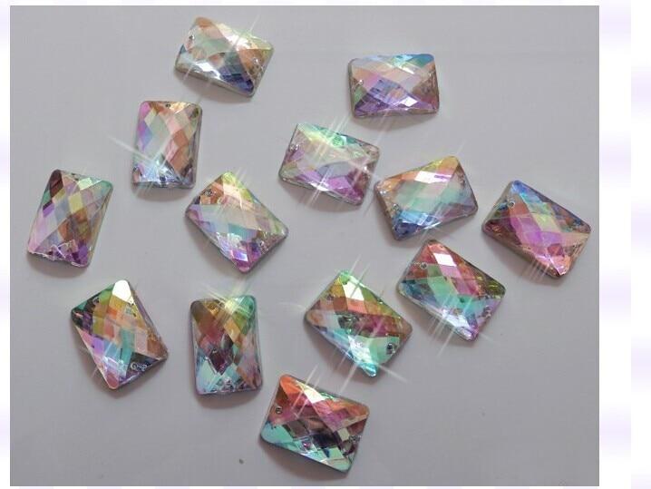 Драгоценный аксессуар прямоугольник abcolour 10*14 мм 200 шт. пришить arcyl Кристалл Rhinestone Flatback Стразовая diamond для шитья камень