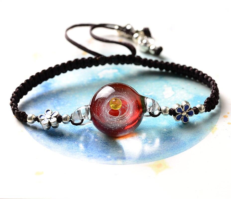 Bracelet de charme galaxie pour Noël