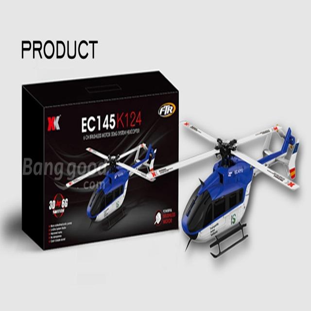 XK K124 Sistema 3D6G EC145 6CH Brushless RC Helicóptero BNF