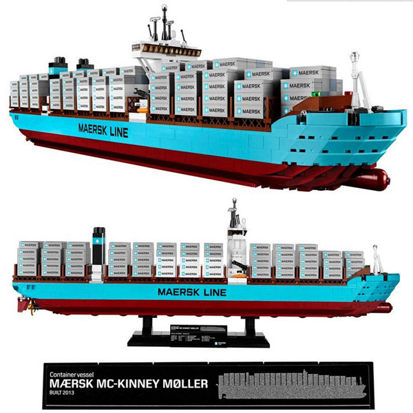 Lepin 22002 Technic The Maersk Cargo Container Ship Set 1518Pcs Educational Building Blocks Bricks Model Toys Gift 10241 lepin 22002 1518pcs the maersk cargo container ship set educational building blocks bricks model toys compatible legoed 10241