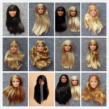 Free Shipping By E-packet Wholesale Birthday Gift 5 Pcs Original Doll Heads Make Up Head DIY Doll Barbiees Accessories For Doll