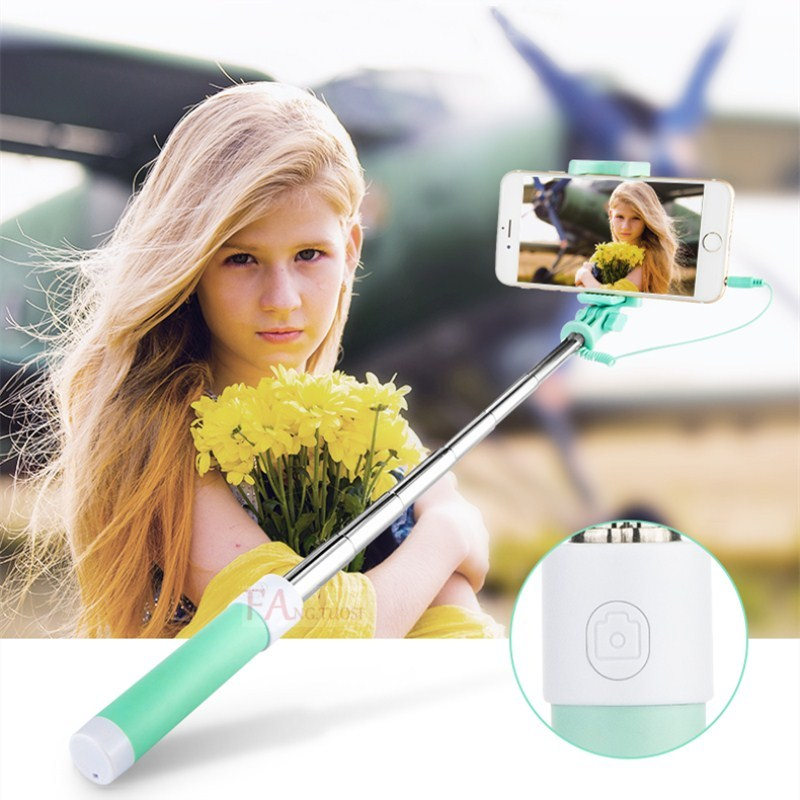 FANGTUOSI Mini Selfie Stick Wired Silicone handheld Monopod Universal For iPhone 7 6s 5 Android Samsung Huawei Smartphone Stick