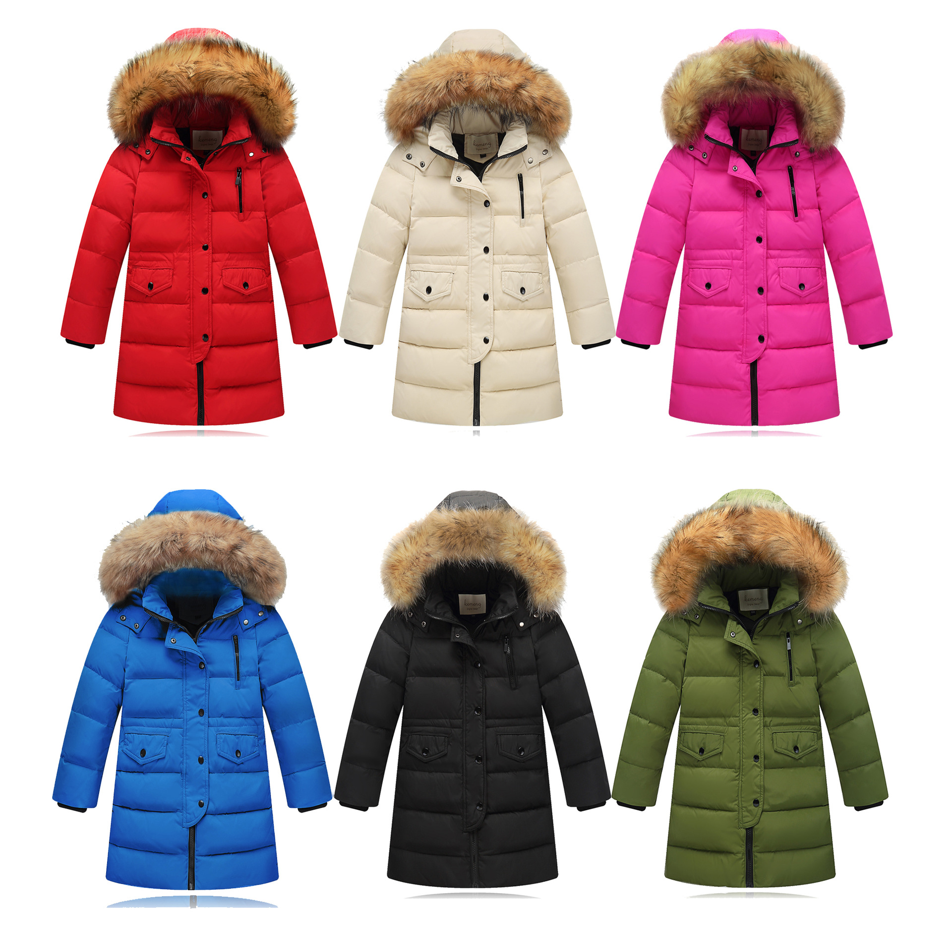 OLEKID 2018 Children Boys Winter Duck Down Jacket Long Thick Warm Fur Collar Teenage Girls Jackets 2-12 Years Kid Outerwear Coat olekid 2017 new cartoon rabbit winter girls parka thick warm hooded children outerwear 5 14 years teenage girls sweater coat