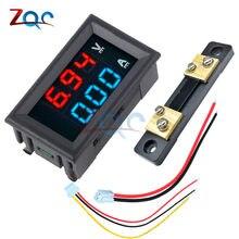 Mini digital voltímetro amperímetro dc 0-100v/7-110v 50a volt tensão medidor de corrente tester 0.28