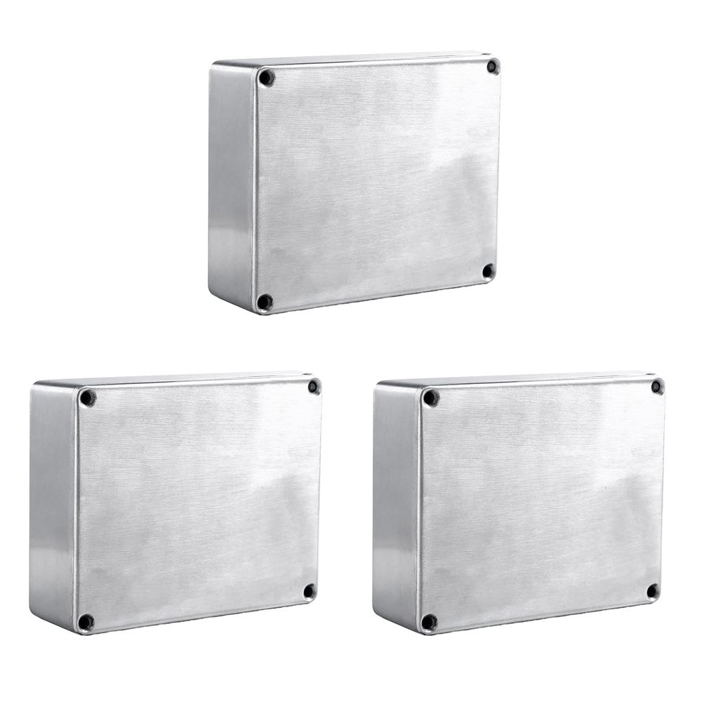 1590BB Aluminum Metal Stomp Box Case Enclosure Guitar Effect Pedal Pack of 3 pack n pedal