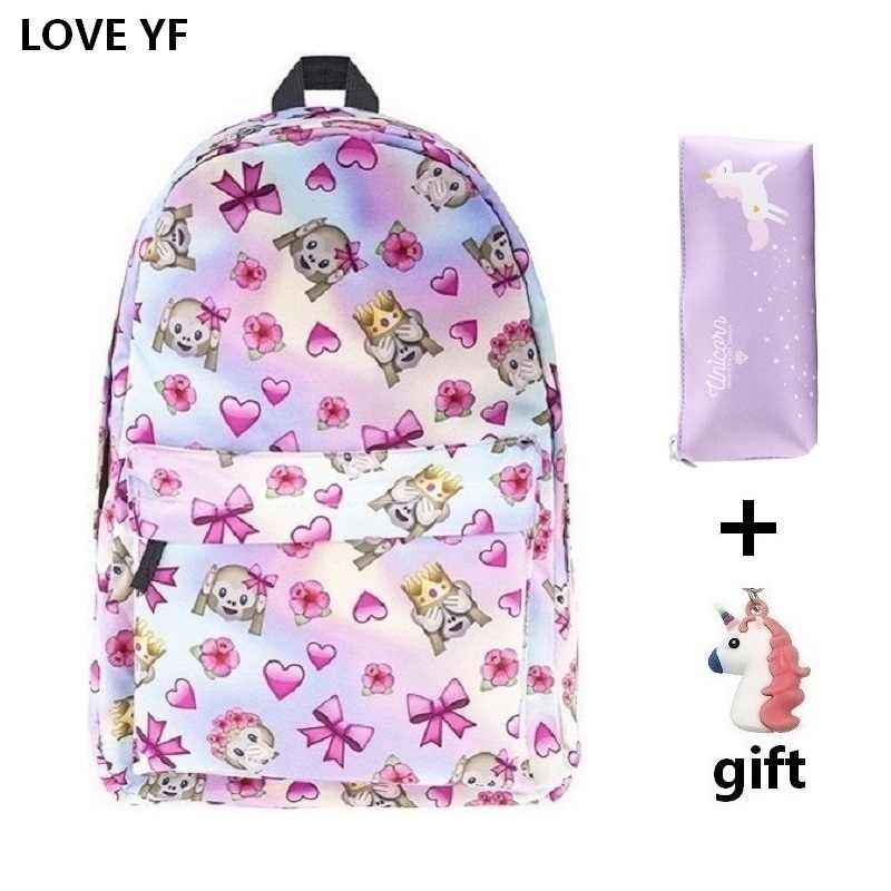 Модная школьная сумка для девочек розового и зеленого цвета с принтом единорога, Женский Повседневный Рюкзак, школьные сумки для подростков, школьные сумки для девочек, rugzak