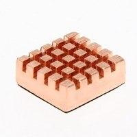 8 шт. медь радиатор оперативная память радиаторы кулер клей назад для ВГА графический процессор DDR с DDR2 на DDR3 оперативная память-микросхемы памяти чипсет охлаждения 13*12 мм