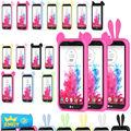 Ouvidos desenhos animados universal telefone bumper para lg g flex d958/pro lite dupla d686 Gel Macio Silicon Caso de Telefone Fronteira Capa Tamanho Grande