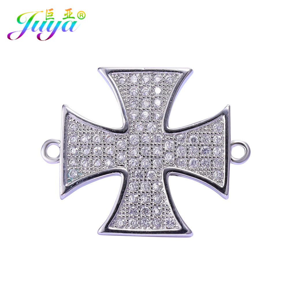 Cz Rhinestone Jewelry Components Supplies Hero Glory Cross Medal Bijouterie Connector Accessories For COSTUME Jewelry DIY Making
