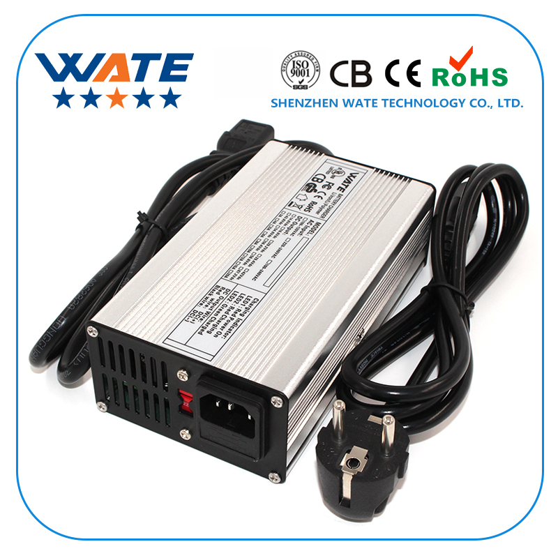 51.1V 4A Charger 44.8V LiFePO4 Battery Smart Charger Used for 14S 44.8V LiFePO4 Battery High Power With Fan Aluminum Case-in Chargers from Consumer Electronics    1