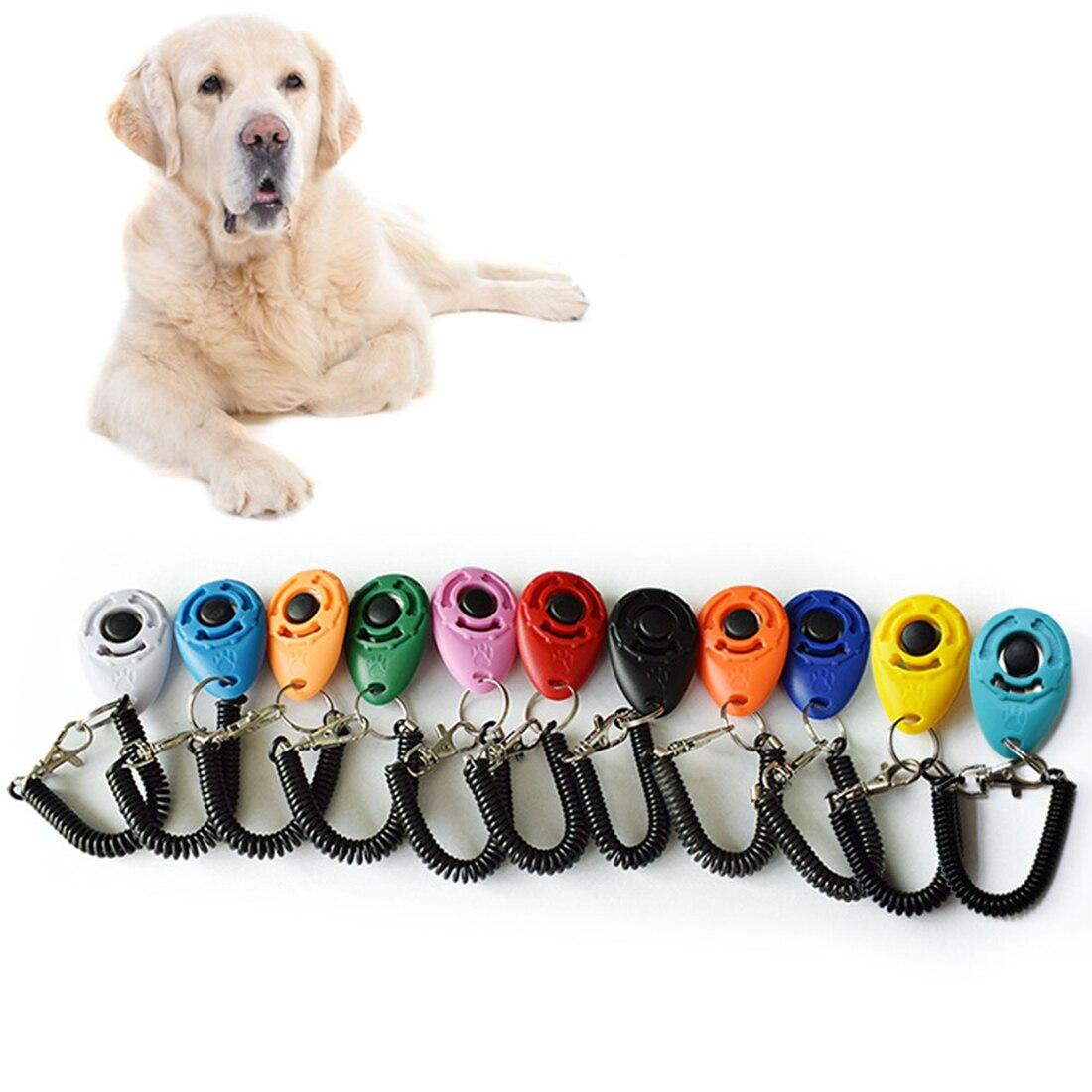 11 Kleuren 1 St Pet Trainer Hond Opleiding Hond Clicker Verstelbare Sound Sleutelhanger En Polsband Doggy Trein Klik Superieure Prestatie