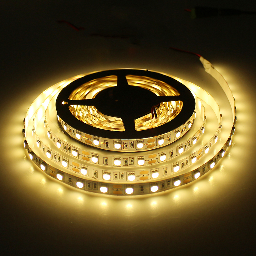 5m Lot Smd 2835 5050 3528 5630 Led Strip Dc12v Flexible Light 60 Extension Wire Connector Cable Cord For Rgb Ebay Leds M White Warm Red Green Blue Yellow Color