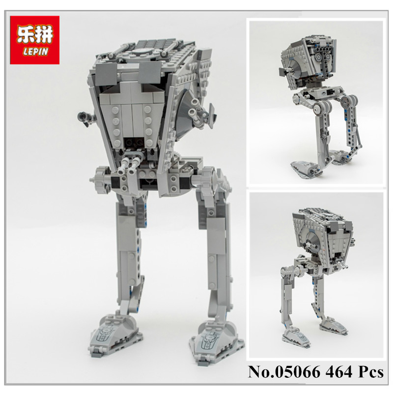 Lepin 05066 464PCS Genuine The Rogue One Imperial AT-ST Walker Set Building Blocks Bricks Educational Toys 75153 конструктор lepin star plan разведывательный транспортный шагоход at st 458 дет 05066