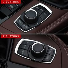 цена на For BMW 1 3 4 5 7 Series X1 X3 X4 X5 X6 E87 F20 F01 F30 F15 2013 2014 3D Car Accessories Interior Multimedia Buttons Cover Trim