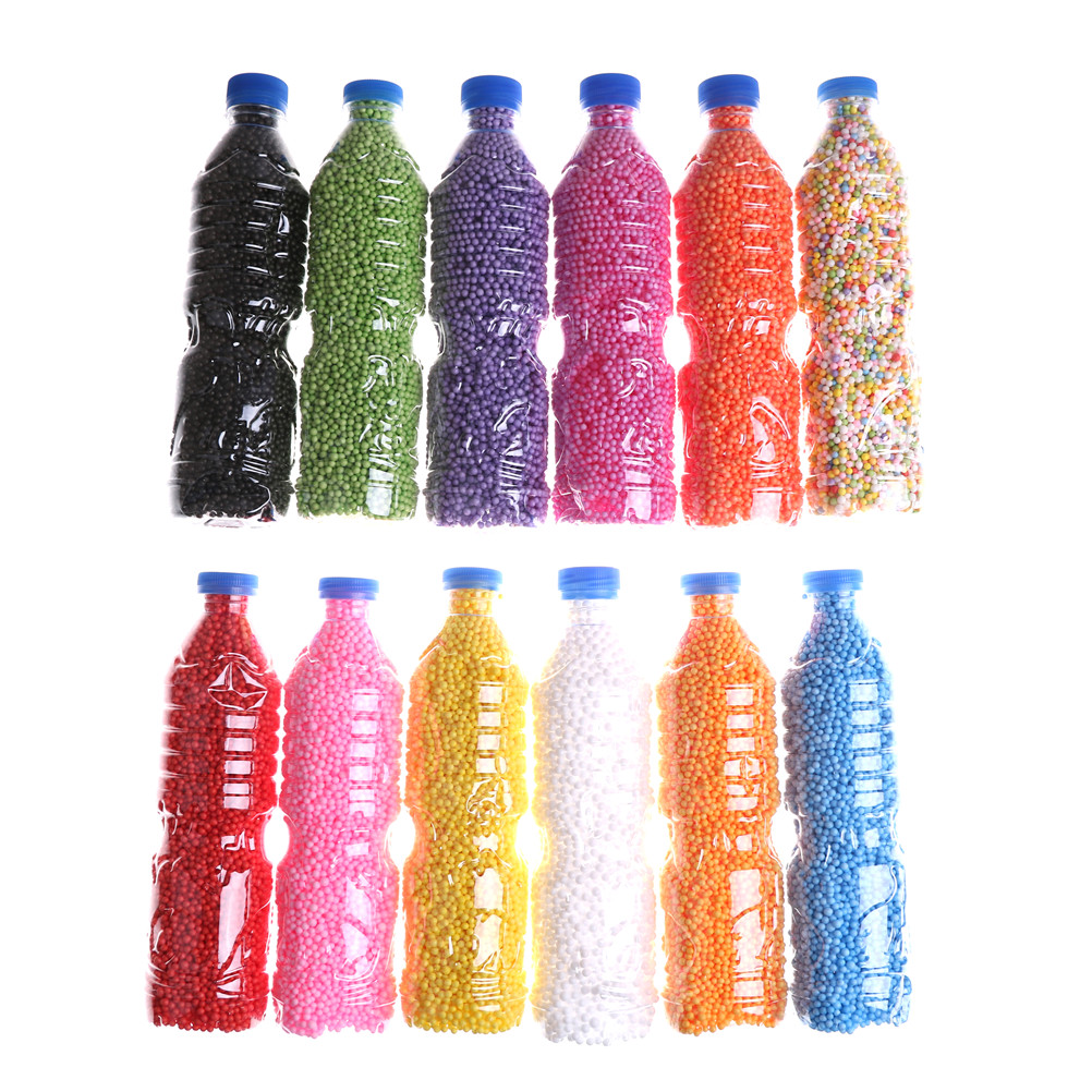 Persevering 500ml/bottle 2-4mm Diy Snow Mud Particles Accessories Slime Balls Small Tiny Foam Beads For Floam Filler For Diy Supplies Modeling Clay