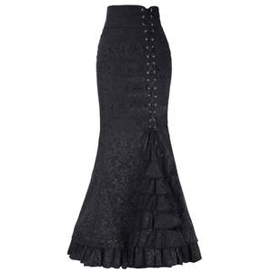 Fishtail Skirt Punk-Style Ruffle Bodycon Retro Vintage Long Moda Summer Mujer -N05 Faldas