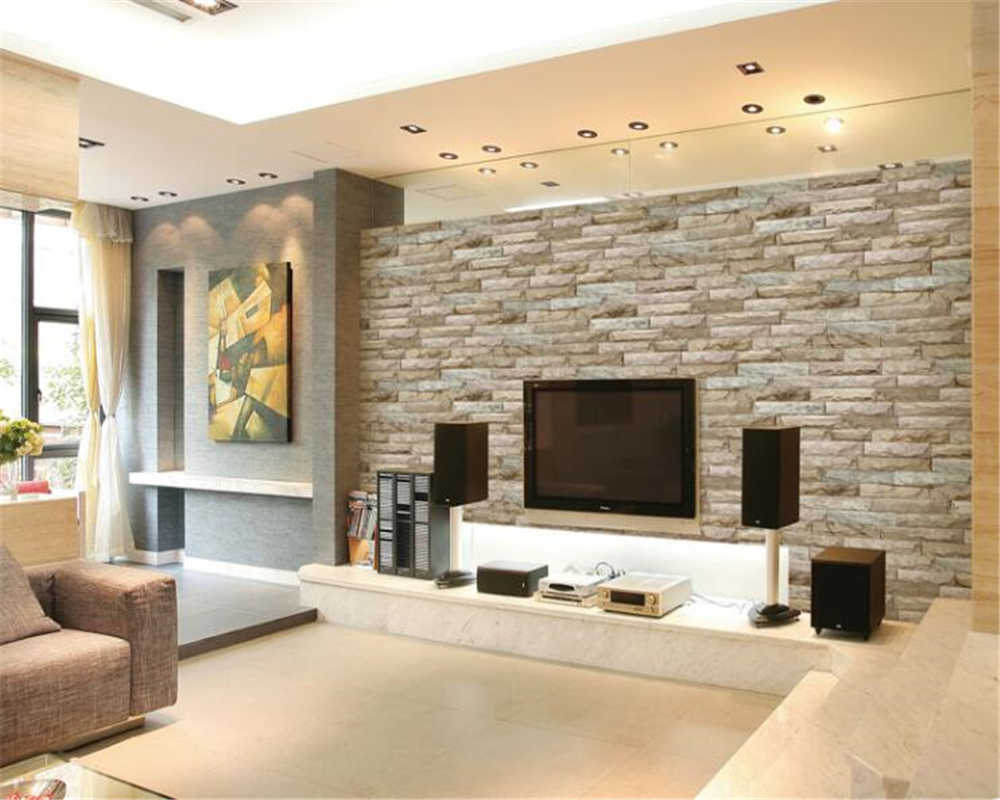 beibehang 3d wallpaper Simple modern papel de parede bedroom background  wall stereo brick brick wallpaper for walls 3 d
