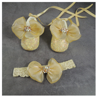 moonpie baby gold rhinestone shoes princess prince bow baby moccasin satin bow headband set baby shower gift baby birthday shoes