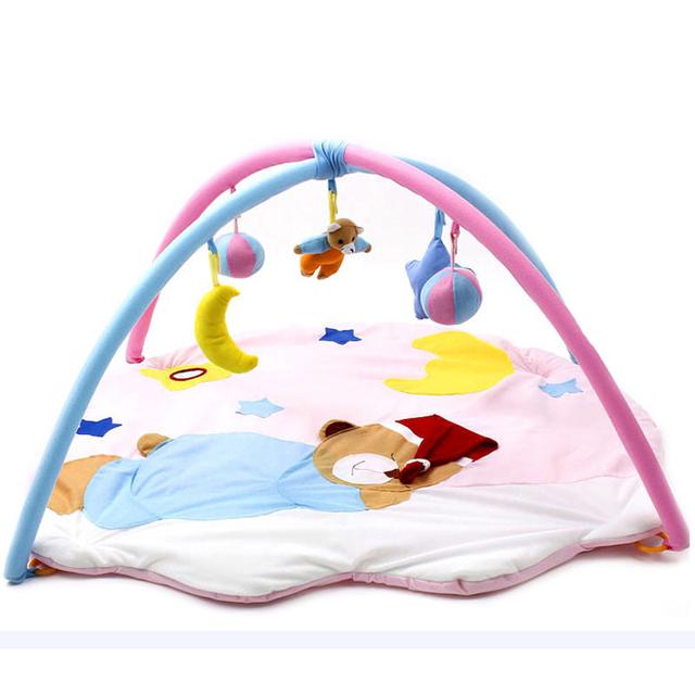 2016 Brinquedos Do Bebê Jogar Mat Tapete Infantil Urso Dormindo Mat Atividade Ginásio Jogo Crawling Educacional Puzzle Tapete Mat-BYC154 PT49