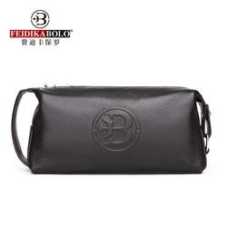 100% Genuine Leather Men Wallets Black Male Clutch Bags Cow Leather Men Purses Man Purse Fashion Long Men Clutches Top Quality