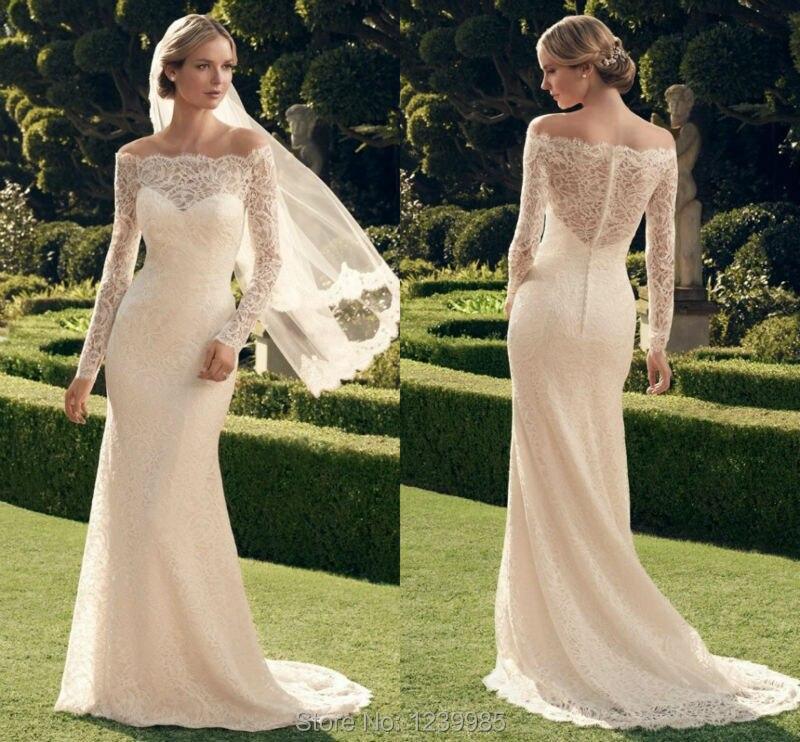2015 New Elegant Full Long Sleeves Mermaid Wedding Dresses: Aliexpress.com : Buy 2016 New Fashion Casablanca Wedding