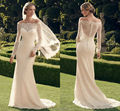 2017 New Fashion Casablanca Wedding Dress Long Sleeves mermaid Court train wedding bridal gowns free shipping